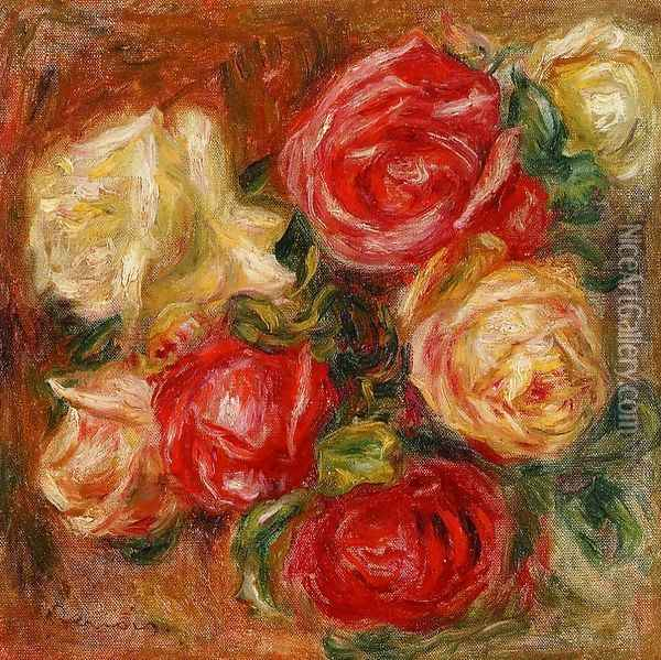 Bouquet Of Flowers Oil Painting - Pierre Auguste Renoir