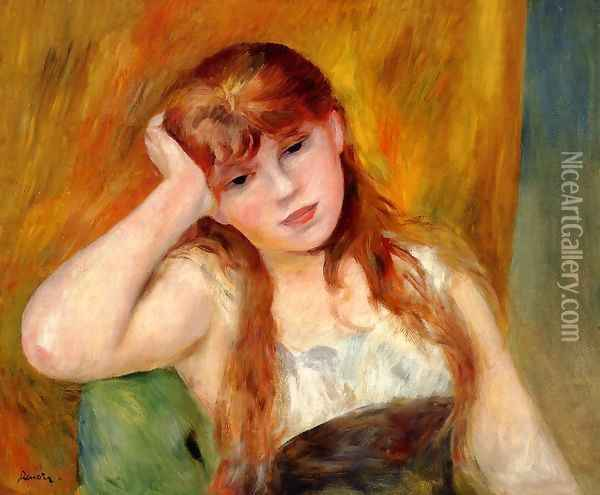 Young Blond Woman Oil Painting - Pierre Auguste Renoir