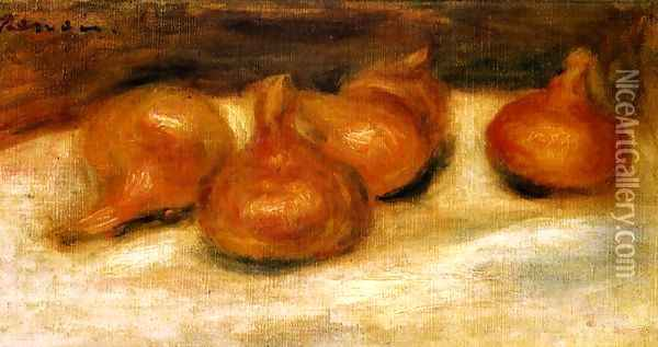 Still Life With Onions Oil Painting - Pierre Auguste Renoir