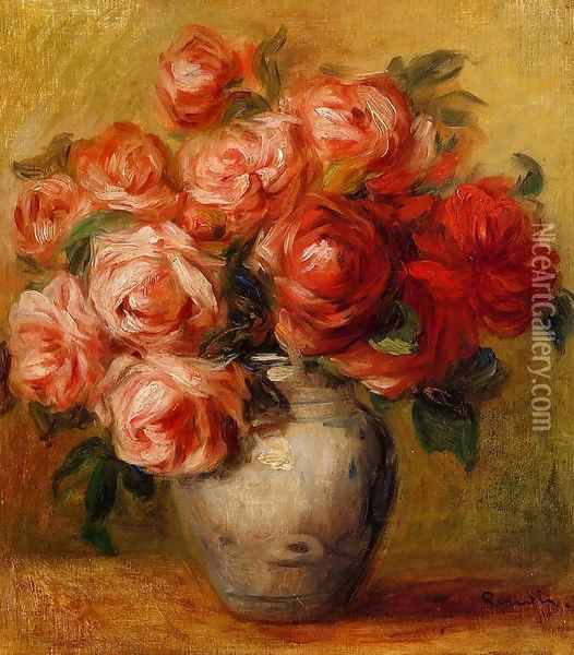 Still Life With Roses2 Oil Painting - Pierre Auguste Renoir