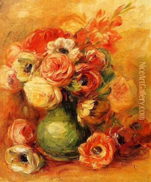 Still Life With Roses Oil Painting - Pierre Auguste Renoir
