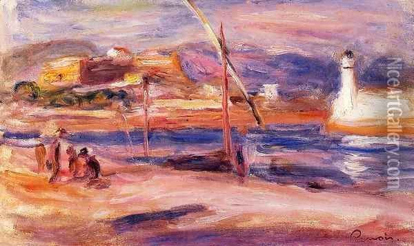 Fort Carre Et Phare D Antibes Oil Painting - Pierre Auguste Renoir