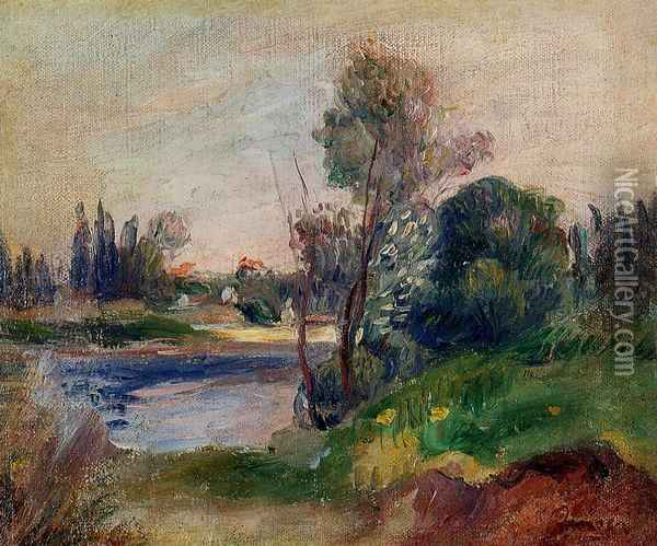 Banks of the River I Oil Painting - Pierre Auguste Renoir