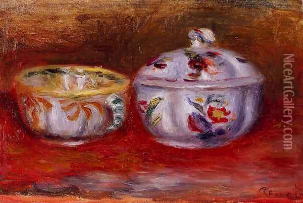 Still Life With Fruit Bowl Oil Painting - Pierre Auguste Renoir