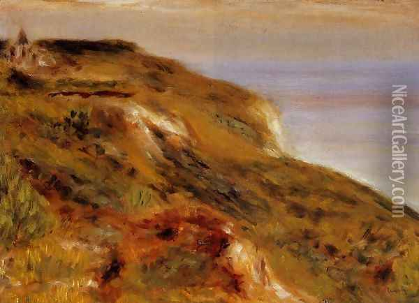 The Varangeville Church And The Cliffs Oil Painting - Pierre Auguste Renoir