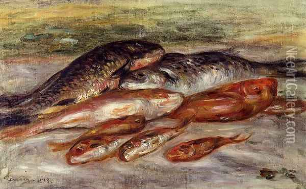 Still Life With Fish2 Oil Painting - Pierre Auguste Renoir
