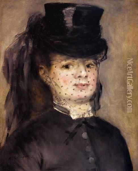 Madame Darras as an Horsewoman Oil Painting - Pierre Auguste Renoir