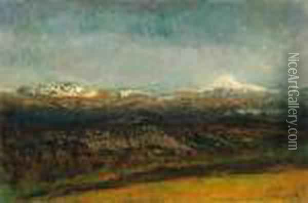 Landscape In The Tatra Mountains Oil Painting - Laszlo Mednyanszky