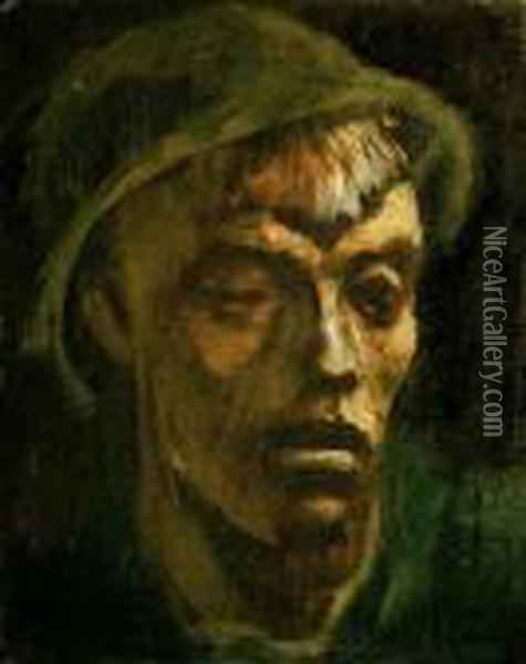 Head Of A Tramp Oil Painting - Laszlo Mednyanszky