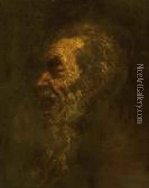 Portrait Of An Old Man Oil Painting - Laszlo Mednyanszky