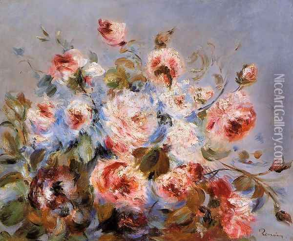 Roses From Wargemont Oil Painting - Pierre Auguste Renoir