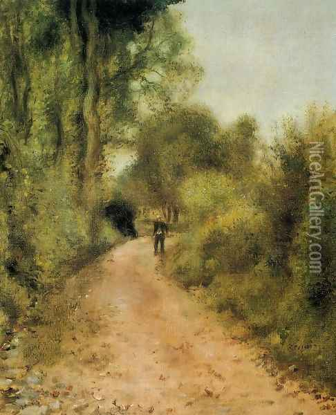 On The Path Oil Painting - Pierre Auguste Renoir