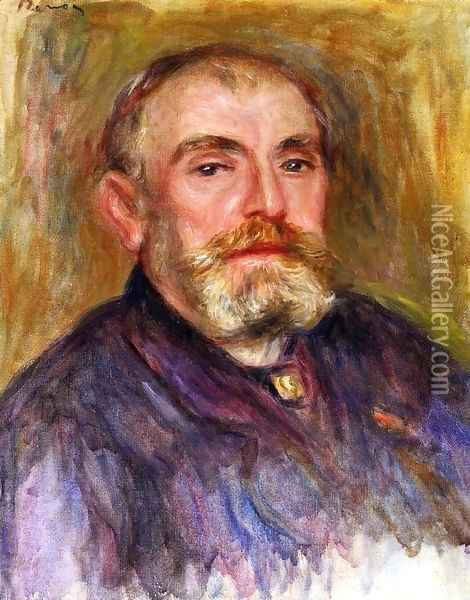 Portrait Of Henri Lerolle Oil Painting - Pierre Auguste Renoir