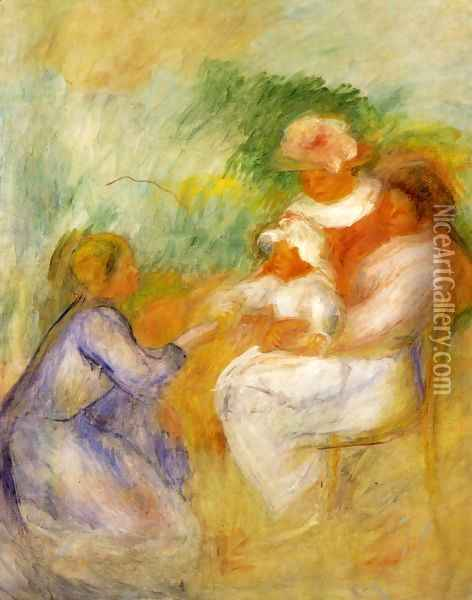 Women And Child Oil Painting - Pierre Auguste Renoir