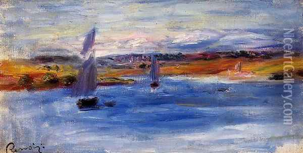 Sailboats Oil Painting - Pierre Auguste Renoir