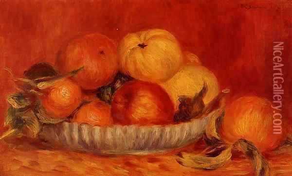 Still Life With Apples And Oranges2 Oil Painting - Pierre Auguste Renoir