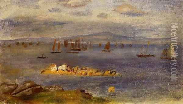 The Coast Of Brittany Fishing Boats Oil Painting - Pierre Auguste Renoir