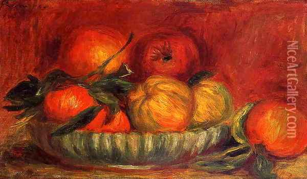 Still Life With Apples And Oranges Oil Painting - Pierre Auguste Renoir