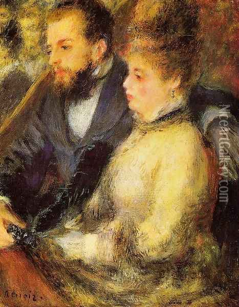 In The Loge Oil Painting - Pierre Auguste Renoir