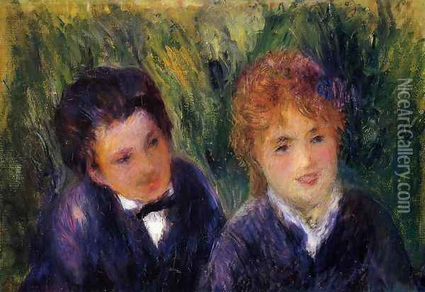 Young Man And Young Woman Oil Painting - Pierre Auguste Renoir