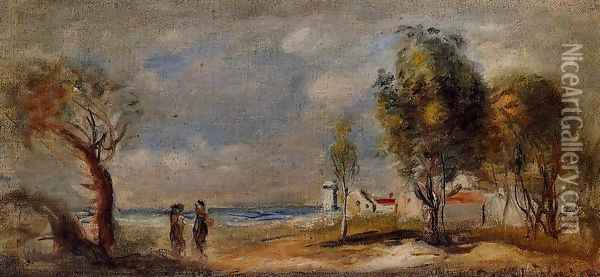 Landscape (after Corot) Oil Painting - Pierre Auguste Renoir