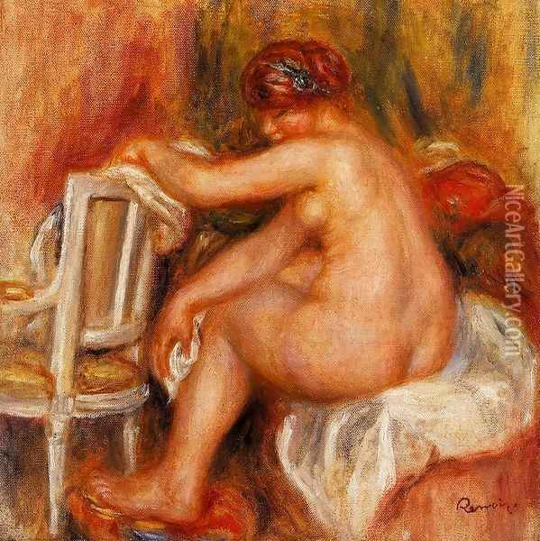 Seated Nude2 Oil Painting - Pierre Auguste Renoir