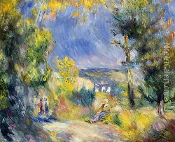 View Close To Antibes Oil Painting - Pierre Auguste Renoir