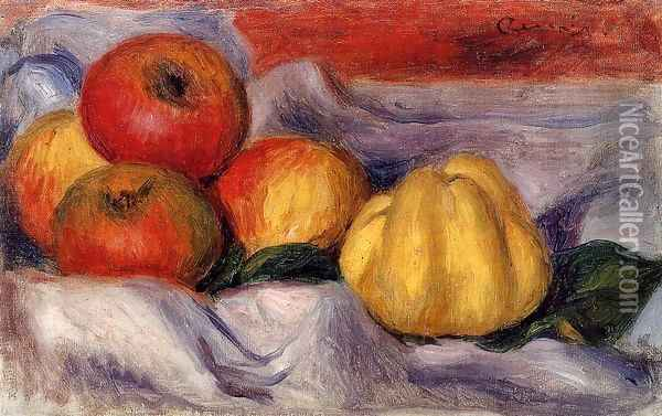 Still Life With Apples Oil Painting - Pierre Auguste Renoir