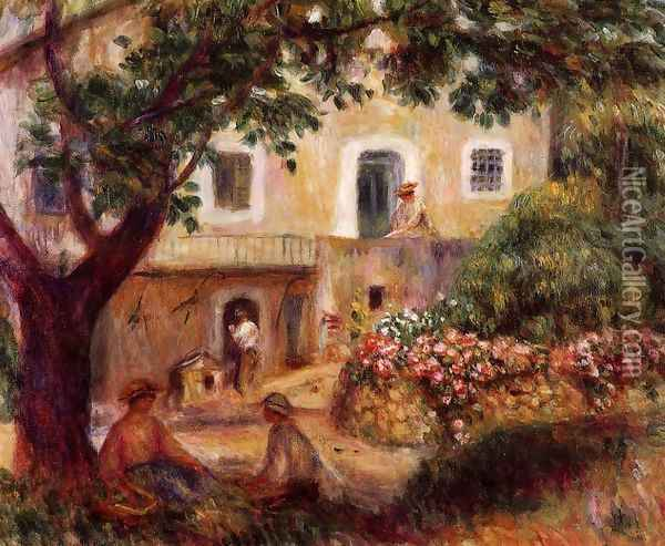 The Farm Oil Painting - Pierre Auguste Renoir