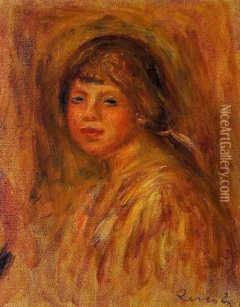 Head Of A Young Woman6 Oil Painting - Pierre Auguste Renoir