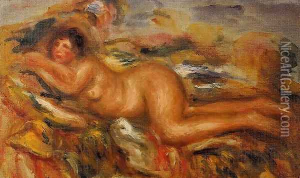 Nude On The Grass Oil Painting - Pierre Auguste Renoir