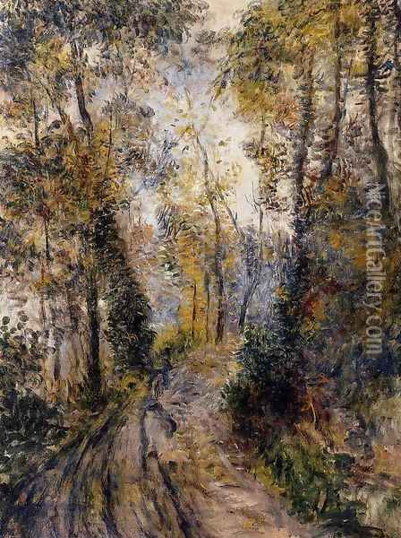 The Path Through The Forest Oil Painting - Pierre Auguste Renoir
