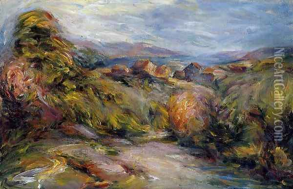 The Hills Of Cagnes Oil Painting - Pierre Auguste Renoir