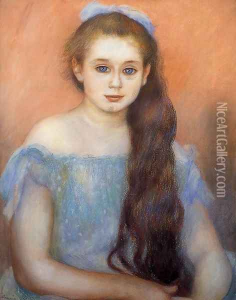 Portrait Of A Young Girl 5 Oil Painting - Pierre Auguste Renoir