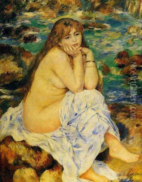 Seated Nude I Oil Painting - Pierre Auguste Renoir
