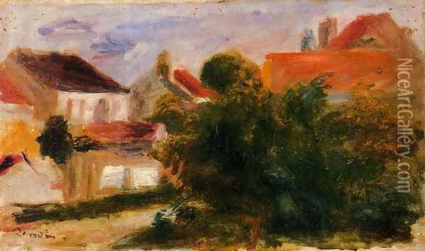 Landscape At Essoyes Oil Painting - Pierre Auguste Renoir