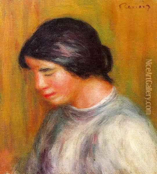 Portrait Of A Young Girl4 Oil Painting - Pierre Auguste Renoir