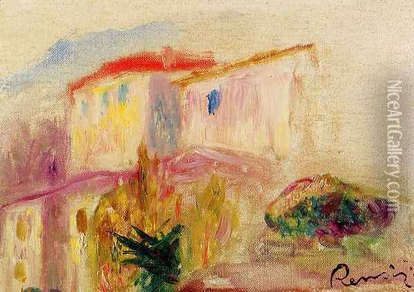 Le Poste At Cagnes (study) Oil Painting - Pierre Auguste Renoir