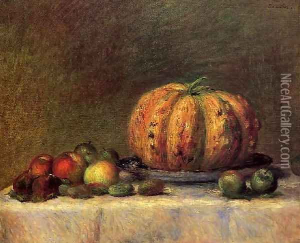 Still Life With Fruit3 Oil Painting - Pierre Auguste Renoir