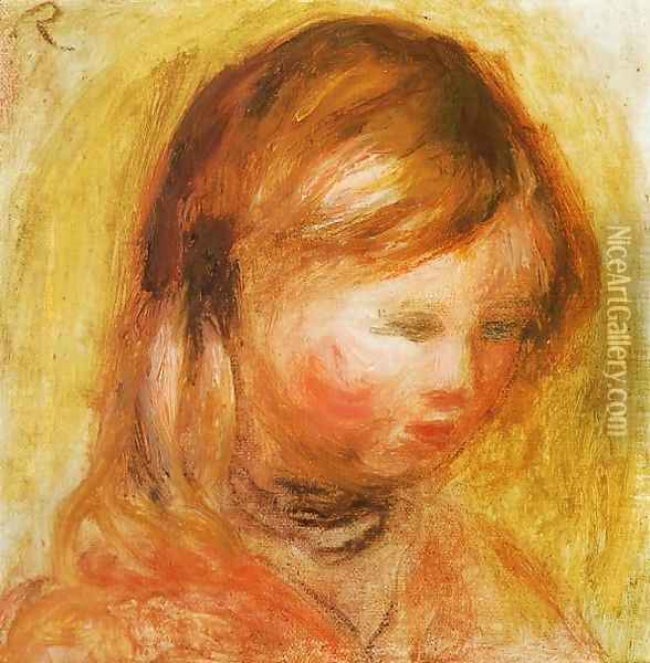 Young Girl Oil Painting - Pierre Auguste Renoir