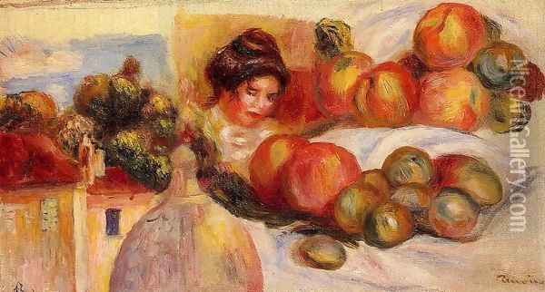 Still Life With Fruit4 Oil Painting - Pierre Auguste Renoir