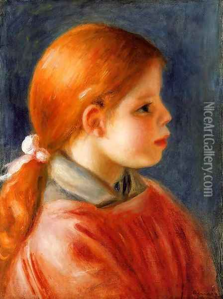 Head Of A Young Woman5 Oil Painting - Pierre Auguste Renoir