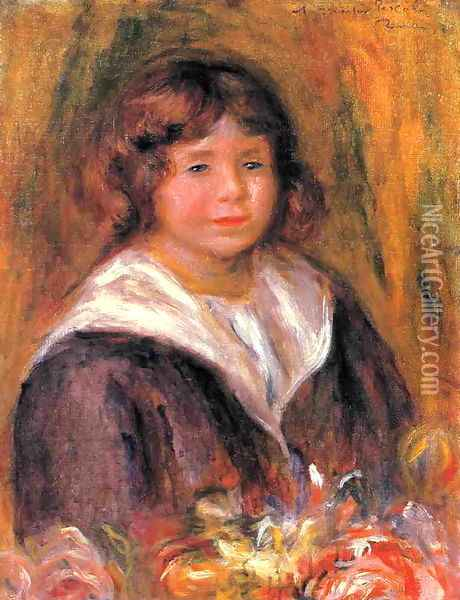 Portrait Of A Boy (Jean Pascalis) Oil Painting - Pierre Auguste Renoir