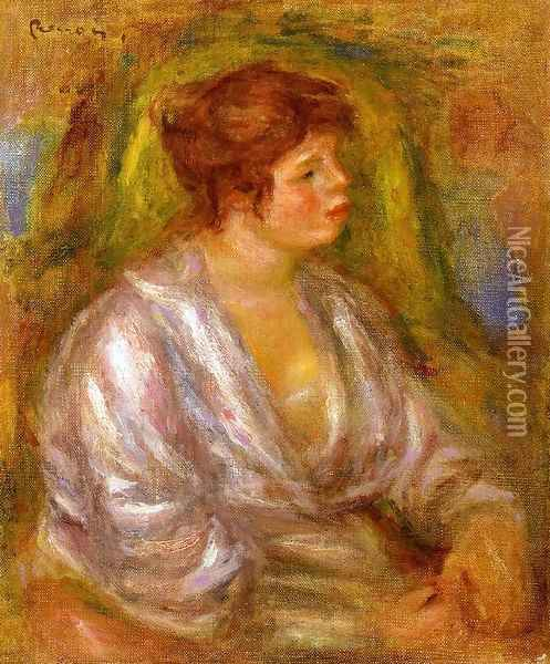 Portrait Of A Woman2 Oil Painting - Pierre Auguste Renoir