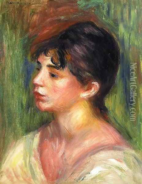 Portrait Of A Young Woman3 Oil Painting - Pierre Auguste Renoir