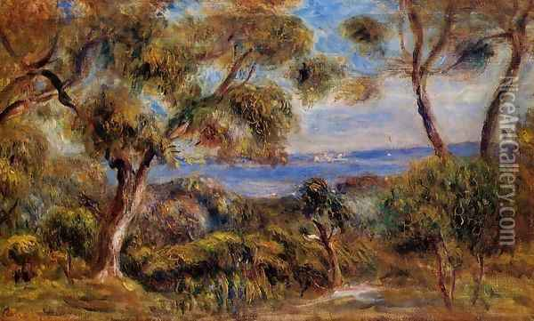The Sea At Cagnes Oil Painting - Pierre Auguste Renoir