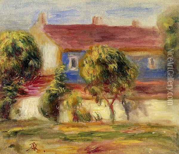 The Artists House Oil Painting - Pierre Auguste Renoir