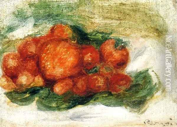 Still Life With Strawberries3 Oil Painting - Pierre Auguste Renoir