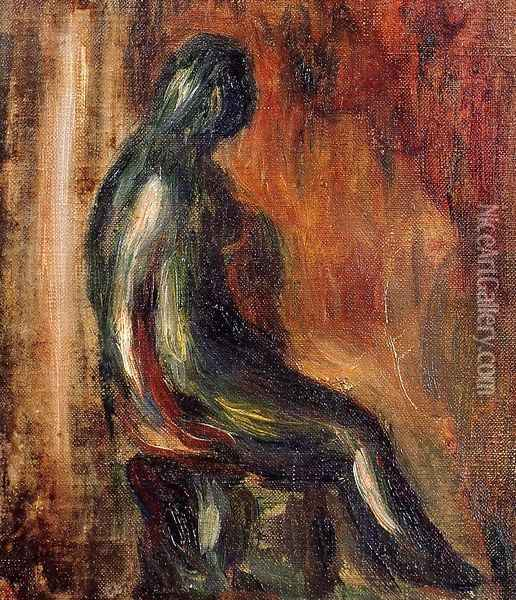 Study Of A Statuette By Maillol Oil Painting - Pierre Auguste Renoir