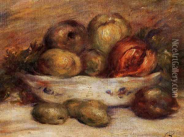 Still Life With Fruit2 Oil Painting - Pierre Auguste Renoir